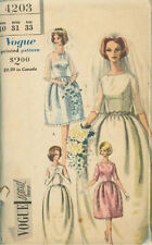 Vintage Vogue Bridal Gown Sewing Pattern 4203 Size 10