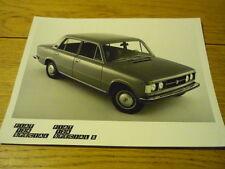 """FIAT 124 SPECIAL S PRESS PHOTO  """"Brochure"""" jm"""