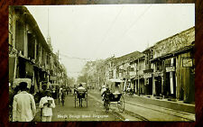 NORTH BRIDGE ROAD SINGAPORE Photo Postcard ca.1920 STRAITS SETTLEMENTS