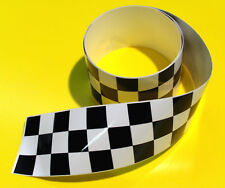 CHEQUERED TAPE retro sticker decal 1220x60mm 2 LENGTHS!