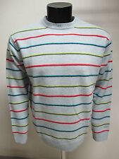 GANT maglione uomo lana girocollo art.85640 col.CELESTE/MULTIC tg.2XL inver.2010