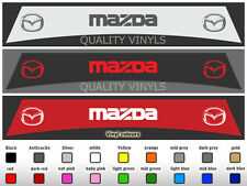 SU109 MAZDA 2 3 6 MX-5 RX-8 MPS MIATA SUNSTRIP LOGO DECAL STICKERS VINYL GRAPHIC