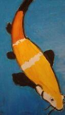 TABLEAU ACRYLIQUE  Poisson carpe koï Fisch FISH.  PESCE