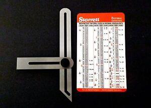 Lot Stainless Steel Sliding Bevel Gauge Plus Starrett Pocket Card