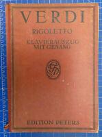 Verdi Rigoletto Klavierauszug mit Gesang Oper Noten Edition Peters Y5-1082