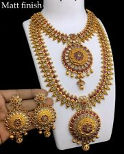 Indian Gold Plated Long Choker Necklace fine jewelry wedding Jewellery Set 1920