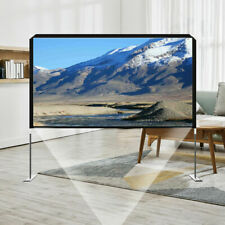 100 Projector Screen With Stand Projection 1080p Hd Home Theater Movie Screen