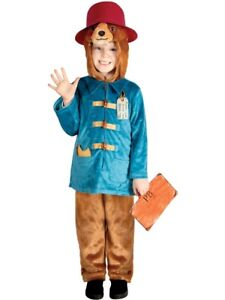 Childs Paddington Bear Deluxe Costume Fancy Dress World Book Day Kids Boys Girls