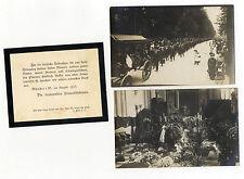 AK Münster Beerdigung 1913 Trauerzug Aufbahrung Anzeige Zeitdokument