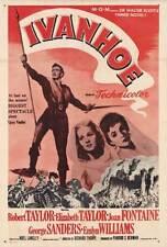 IVANHOE Movie POSTER 27x40 Robert Taylor Elizabeth Taylor Joan Fontaine George