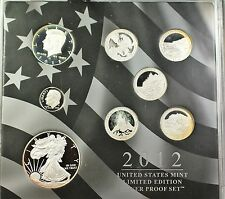 2012 United States Mint Limited Edition Silver Proof 8 Coin Set ATB ASE