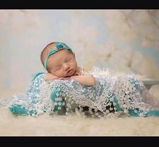 Lace Sheer Floral Tassel Baby Newborn Wraps In CREAM Photography Props
