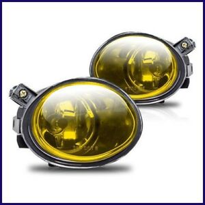 2001-2003 BMW E39 OEM REPLACEMENT YELLOW FOG LIGHTS LAMPS M5 MTECH FRONT BUMPER