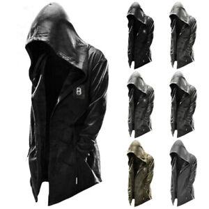 Men Casual Loose Hooded Jacket Coat Hoodie Outwear Overcoat Open Front Cardigan