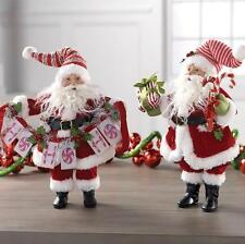 "RAZ SANTA CHRISTMAS RED & WHITE 12"" POSABLE DECORATIONS (SET OF 2) RAZ 3602226"