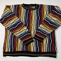 "Protege Men's Colorful "" Coogi Style "" Crewneck Cosby Sweater 3D Biggie Hip Hop"