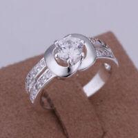 Ring 56  Fingerring Sterling Silber Silberring gestempelt Stein