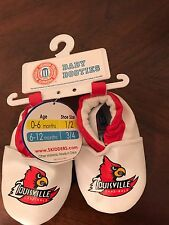 Lousiville Cardinals Infant Baby Booties Shoes Boy/Girl Size 6-12 Months