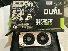 USED ASUS DUAL GEFORCE GTX 1060 3GB GDDR5 OC EDITION - GRAPHICS CARD