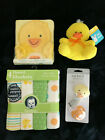 Baby+DUCK+CHICK+4+flannel+blankets+pacifier+%26+clip+board+book+stuffed+toy