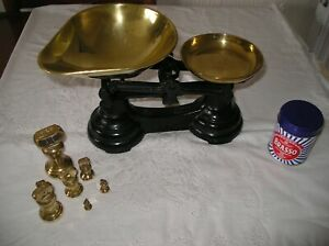 VINTAGE CAST IRON SCALES & WEIGHTS