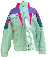 VTG Nevica Size 40 Frontline Ski Jacket Fun Color Block Hood 80s/90s Snowboard