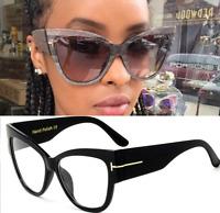 Fashion Cateyes Oversize Glasses Frames Women Eyeglasses Eyewear Sunglasses New
