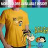 Classic Peanuts Charlie Brown Football Kick Lucy Unisex Mens Tee Crew T-Shirt