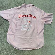 Rare HUMAN MADE XL Rayon Button Down Shirt XL bowling nigo pharell chain stitch