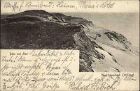 Ording Nordfriesland Postkarte 1907 Düne und Meer Nordsee gelaufen nach Meldorf
