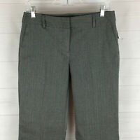 Attention women size 4 stretch gray striped flat front bootcut career pants NWOT