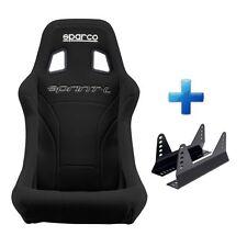 SPARCO Sprint L Grande Negro FIA Aprobado Racing Coche Asiento de Cubo & montajes Gratis!
