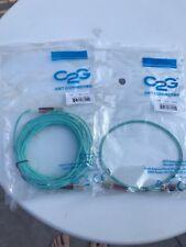 1M And 10M C2G LC-LC 10Gb 50/125 OM3 DPX Duplex Fiber Optic Cable, Aqua, 2 Items