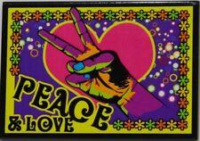 PEACE & LOVE main fleurs multicolores magnet 7.7x5.5 cm