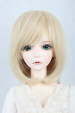 "New 1/6  6"" Girl/boy BJD SD Doll Wig Dollfie DZ DOD LUTS Bjd Doll Wig Dark Gold"