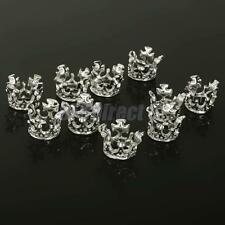 10Pcs Silver Plated Crown Spacer Beads DIY Jewelry Making Findings 10mm