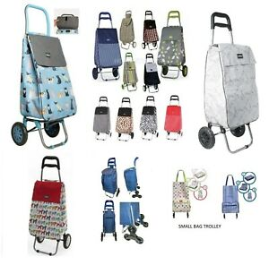 SHOPPING TROLLEY LIGHTWEIGHT FOLDABLE PULL BAG SHOP CART WITH 2 WHEEL FOLDING