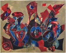 Stillleben mit Vasen und Früchten - Tony Agostini (1916-1990)