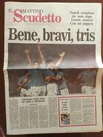 IL MATTINO 30 04 1990 SPECIALE NAPOLI VINCE IL 2° SCUDETTO MARADONA 4 APRILE