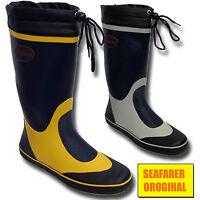 Mens Seafarer Sailing Boat Deck Rubber Original Wellington Boots Wellies Uk Size