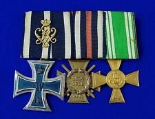 German Germany WW1 Ribbon Bar 3 Iron Cross 2 Class Medal Order Badge