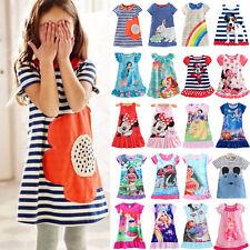 Princess Girls Kids Novelty/ Cartoon Nightdress Tunika Dresses Sleepwear Pyjamas