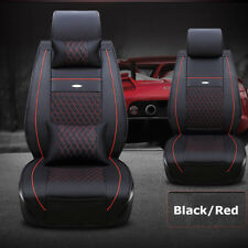 US Car PU Leather Seat Covers Cushion For Nissan Altima Sentra Rogue Black/Red