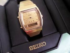 Vintage Seiko H601-5400  gold tone Great original condition