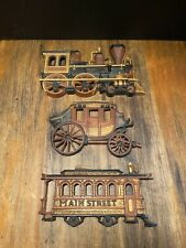 Vintage Homco Dart Wall Décor Train Engine And Trolley Set