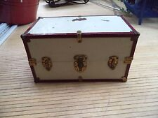 Vintage Metal Doll Trunk Case with Handle
