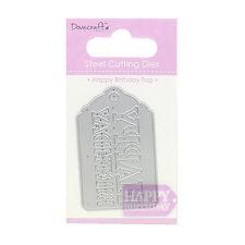 Dovecraft Fustella – Happy Birthday Etichetta - ottimo per Carte o Artigianato