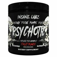 INSANE LABZ PSYCHOTIC BLACK / Pre-Workout / Energy / Strength / CHOOSE FLAVOR!