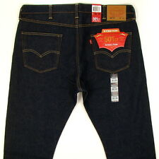 Levis 501 CT Tapered Fit Stretch Jeans Size 38 x 34 DK BLUE Button Fly Levi's