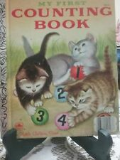 MY FIRST COUNTING BOOK Little Golden Book 1957 Reprint VGC